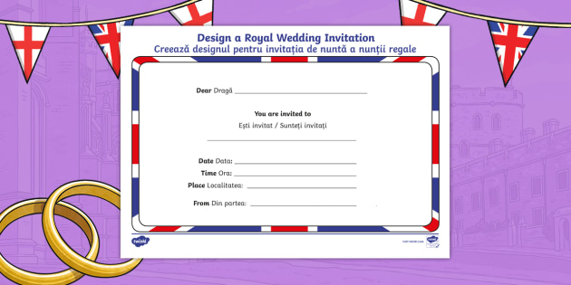 new royal wedding invitation writing template. Black Bedroom Furniture Sets. Home Design Ideas
