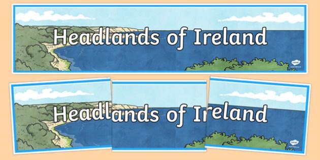 Headlands of Ireland Display Banner-Irish