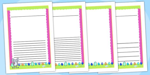 Easter Themed Writing Frames - easter, writing frame, write, RE