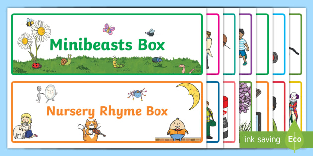 Editable Topic Box Labels - box labels, labels, signs, box signs