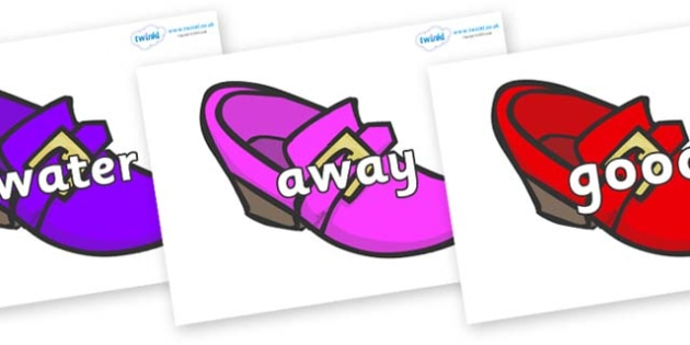 Next 200 Common Words on Shoes - Next 200 Common Words on  - DfES Letters and Sounds, Letters and Sounds, Letters and sounds words, Common words, 200 common words