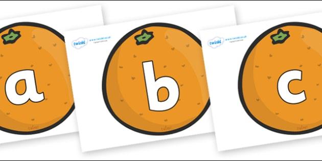 Phoneme Set on Oranges - Phoneme set, phonemes, phoneme, Letters and Sounds, DfES, display, Phase 1, Phase 2, Phase 3, Phase 5, Foundation, Literacy