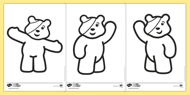 NEW * BBC Children in Need Colouring Pages - Pudsey, blush, CiN ...