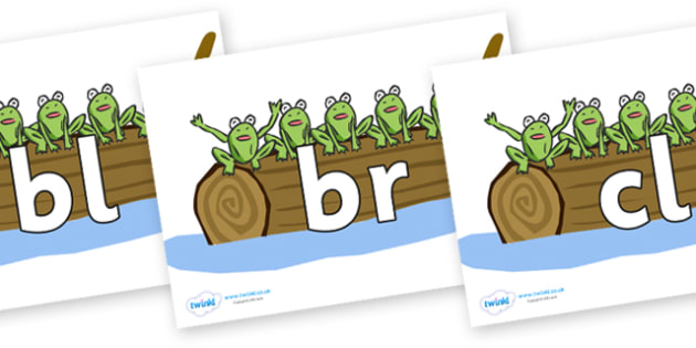 Initial Letter Blends on Five Speckled Frogs - Initial Letters, initial letter, letter blend, letter blends, consonant, consonants, digraph, trigraph, literacy, alphabet, letters, foundation stage literacy