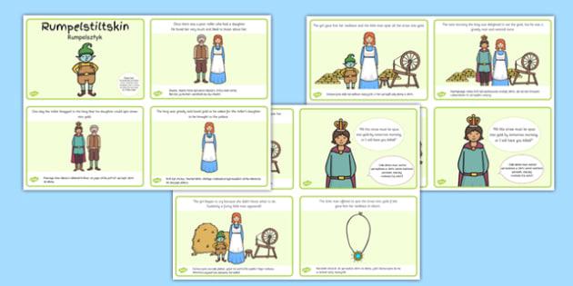 Rumpelstiltskin Story Sequencing 4 per A4 Polish Translation - polish, rumpelstiltskin, story, sequencing