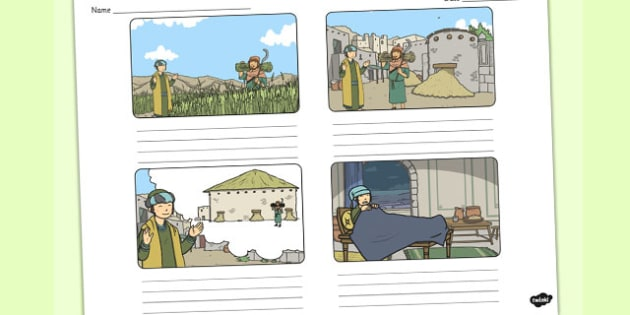 The Rich Fool Storyboard Templates - parables, rich fool, story