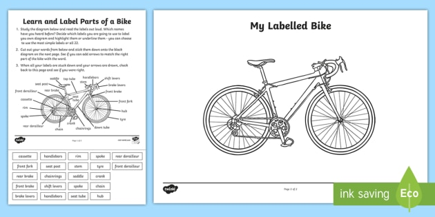 t he 049 label a bike activity sheet _ver_1 blank diagram of a bike best electrical circuit wiring diagram \u2022