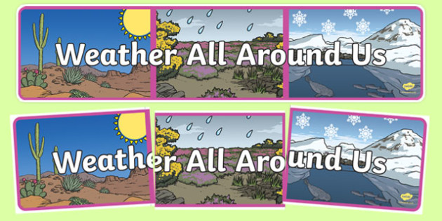Weather All Around Us Display Banner - weather, all around us, display banner, display, banner