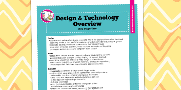 2014 Curriculum KS2 Design and Technology Overview - KS2 plan