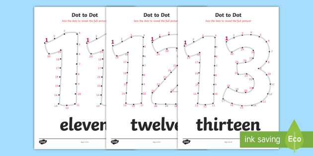 Dot-to-Dot Numbers 11-20 Worksheet - Dot-to-Dot Numbers 11-20