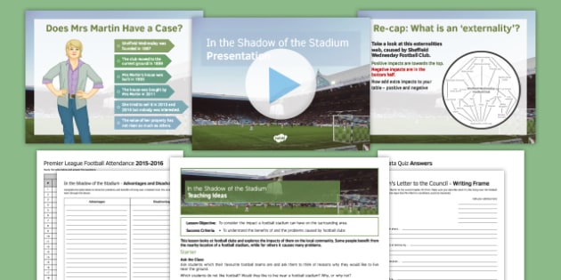 In the Shadow of the Stadium Lesson Pack