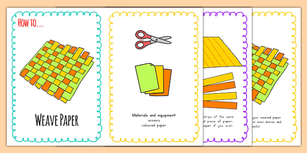Paper Weaving Instructions Australia Instruction Activity