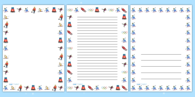 Winter Olympics Page Borders - winter, olympic, borders, sport