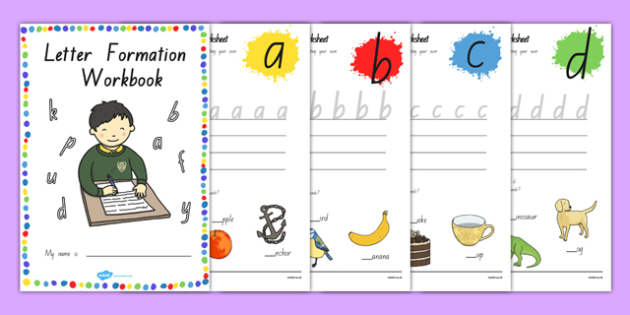Letter Formation Workbook NZ - writing, english, literacy, new zealand, primary