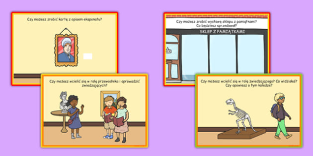 Karty z wyzwaniami Muzeum po polsku - wycieczka szkolna, wyjazd