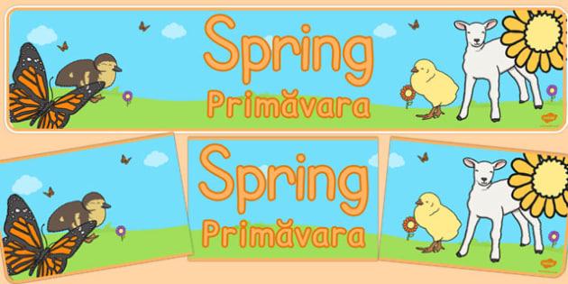 Spring Display Banner Romanian Translation - banners, displays