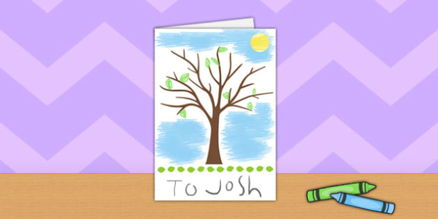 Tree Card Template - tree, card, template, activity, leaves