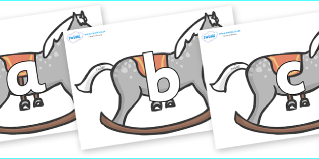 Phoneme Set on Rocking Horses - Phoneme set, phonemes, phoneme, Letters and Sounds, DfES, display, Phase 1, Phase 2, Phase 3, Phase 5, Foundation, Literacy