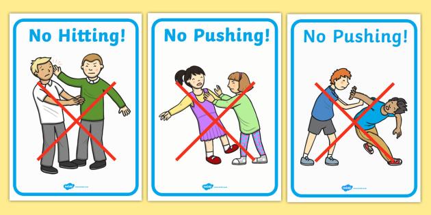 FREE! - No Biting No Kicking No Hitting Display Posters ...