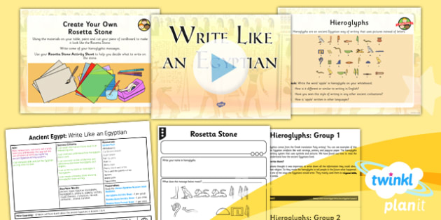 History Ancient Egypt Write Like An Egyptian Uks2 Lesson Pack