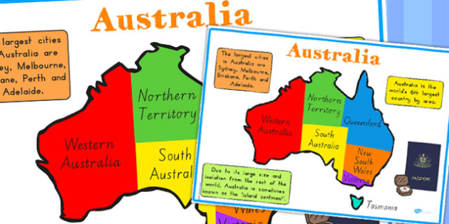 Australia Display Poster - australia, poster, display, map