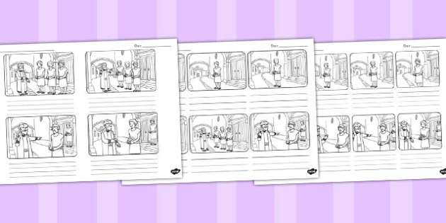 The Talents Storyboard Template - talents, parable, storyboard
