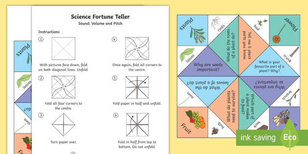 Plant Parts Chatterbox Activity - fortune teller, plant