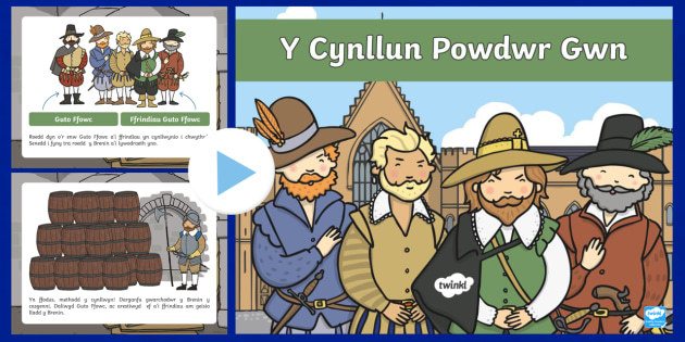Pŵerbwynt Gwybodaeth Y Cynllun Powdwr Gwn Pŵerbwynt