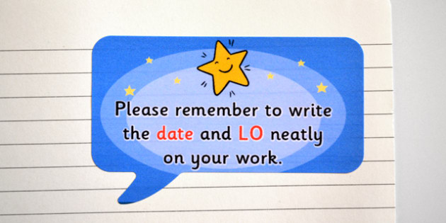 Time Saving Speech Bubble Stickers for Marking Date and Learning Objective - marking, time saving, stickers, time saving stickers, stickers for marking, date and learning objective, remember the date, please remember to write the date, speech bubble