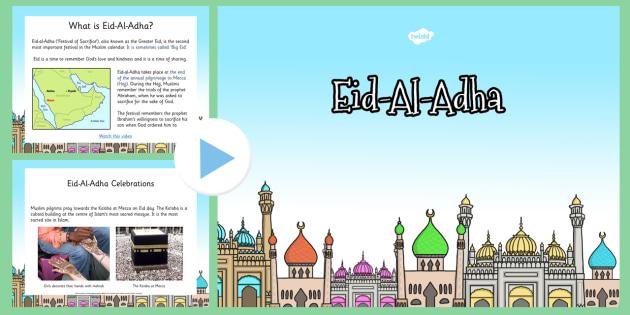 Eid al Adha PowerPoint KS1 - eid al adha, powerpoint, islam, day