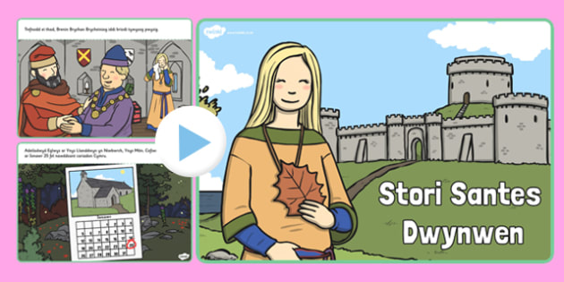 Pŵerbwynt Stori Santes Dwynwen  - santes dwynwen, welsh, stori, santes dwynwen, saint dwynwen, saint dwynwens day, pp, ppt