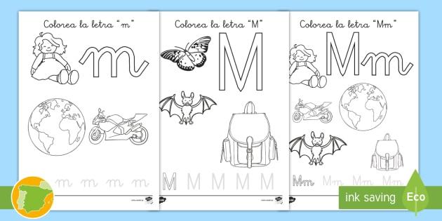 NEW * Hoja de colorear: La letra m - fonemas, fonética