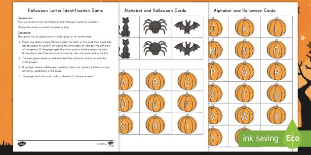 Halloween Letter Recognition Game - Alphabet, Letters, Letter