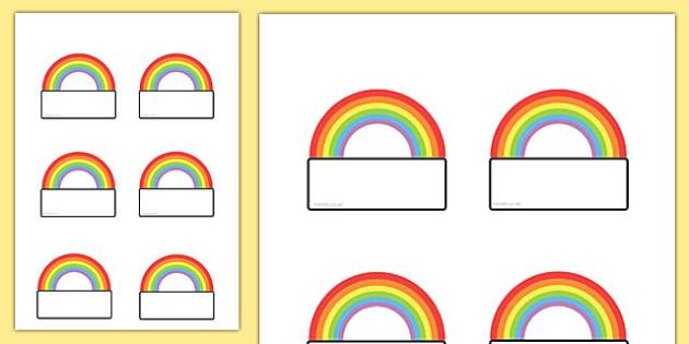 Editable Rainbow Labels - labels, rainbow, editable labels