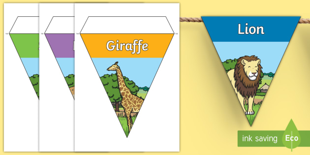 Safari Animal Display Bunting - safari, safari animals, safari bunting, safari animal bunting, on safari bunting, safari display bunting, safari display