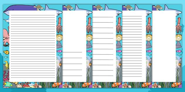 Under the Sea Decorative Page Border - under the sea, page border