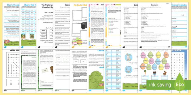 LKS2 English Easter Home Learning Activity Pack