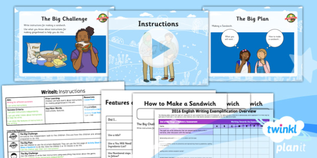 Traditional Tales: The Gingerbread Man Y2 Instructions Writing Assessment   - traditional tales, fairy tales, storytelling, retelling, story map, talk for writing