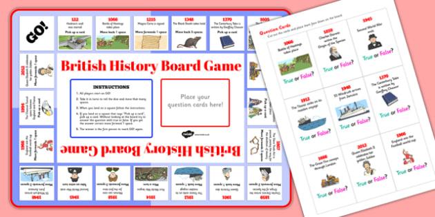 British History Timeline Board Game - board game, british, history