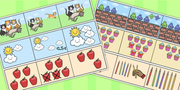 Counting Picture Stories - counting aid, count, numeracy, maths