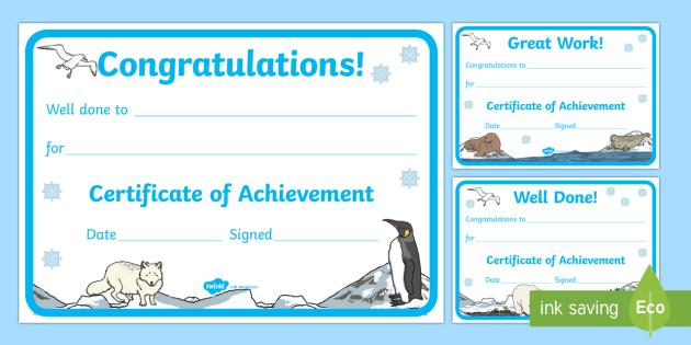 Polar Regions Themed Reward Certificates - Arctic, polar regions, Antarctic, certificates - Arctic, polar regions, Antarctic, certificates