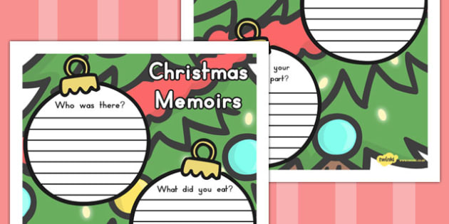 Christmas Memoirs Handwriting Lines - australia, christmas, write