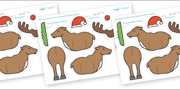 Make a Rudolph Cutting Activity - reindeer, rudolph, activity, how to make a rudolph, reindeer, how to make a reindeer