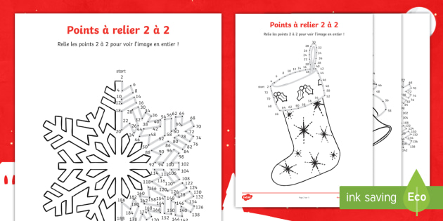 New feuille d 39 activit s points relier sur le th me de no l - Points a relier noel ...