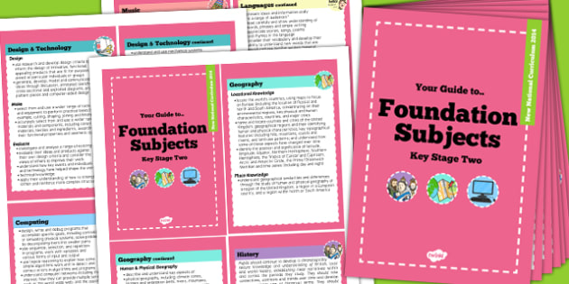 2014 Curriculum Cards KS2 Foundation Subjects - new curriculum