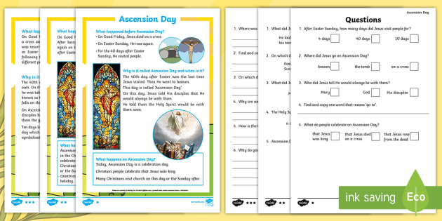 Ks1 ascension day differentiated reading comprehension activity ks1 ascension day differentiated reading comprehension activity ks1 key stage one year 1 ibookread Read Online