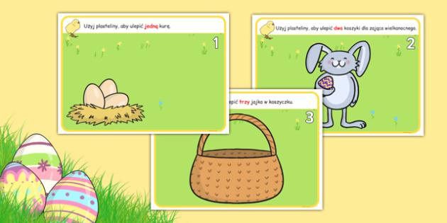 Plansze do zabaw z plasteliną Wielkanoc po polsku - święta
