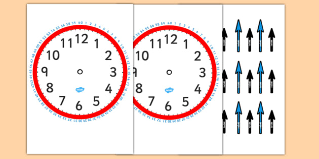 Blank Clock With Minutes And Hands Clocks Time Blank Clocks Minutes