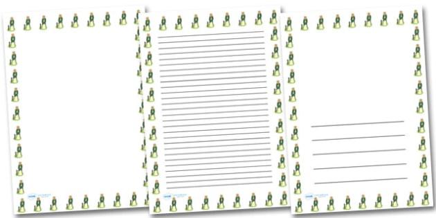 Maiden Tethered Portrait Page Borders- Portrait Page Borders - Page border, border, writing template, writing aid, writing frame, a4 border, template, templates, landscape