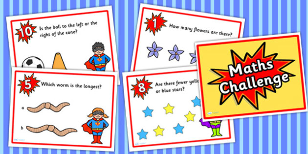 Reception Maths Challenge PowerPoint - numeracy, early years